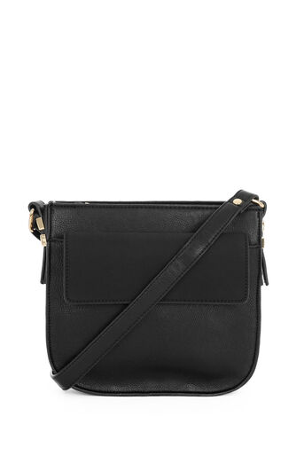 Warehouse, Small Saddle CrossBody Bag Black 0