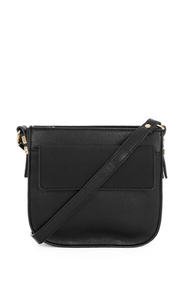 Warehouse, Small Saddle Cross Body Bag Black 0