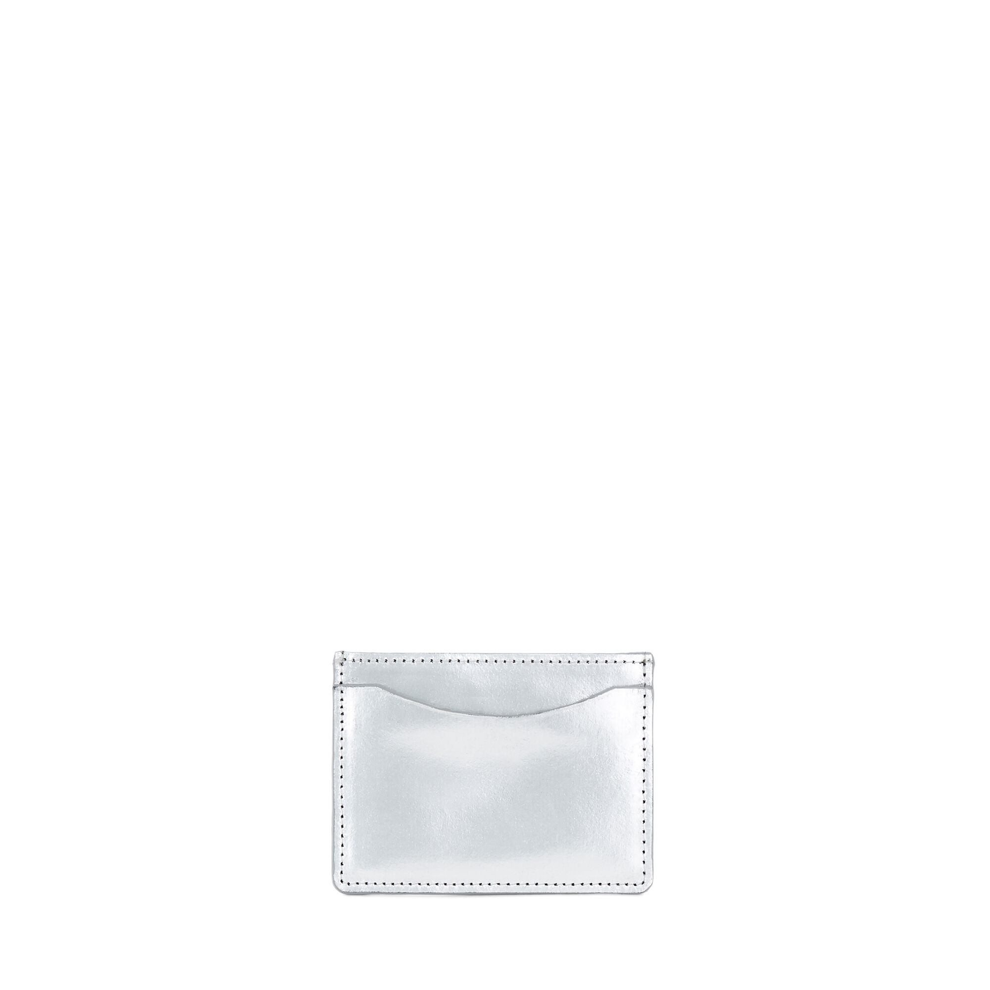 Warehouse, LEATHER CARDHOLDER Silver Colour 1