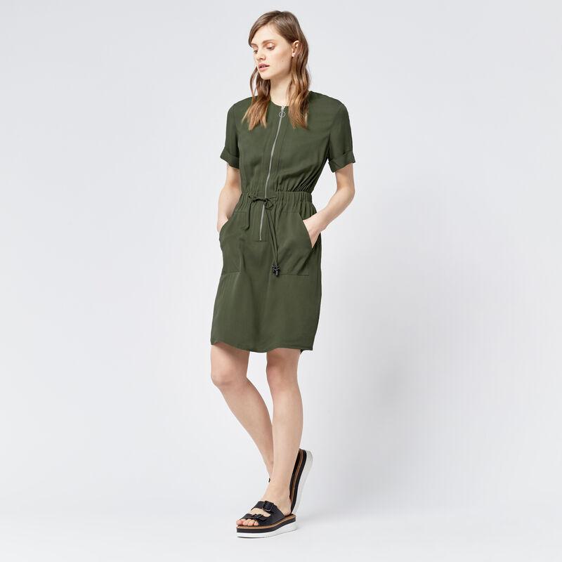 Warehouse, CASUAL UTILITY DRESS Khaki 1