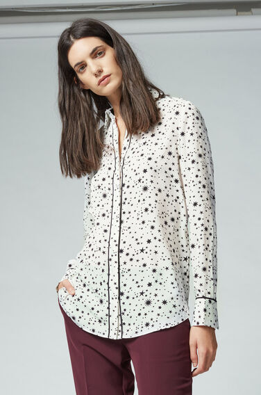 Warehouse, STAR PRINT SHIRT White 1