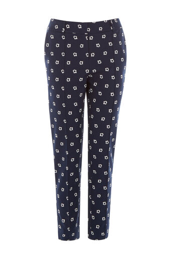 Warehouse, BANDANA PRINTED TROUSERS Navy 0