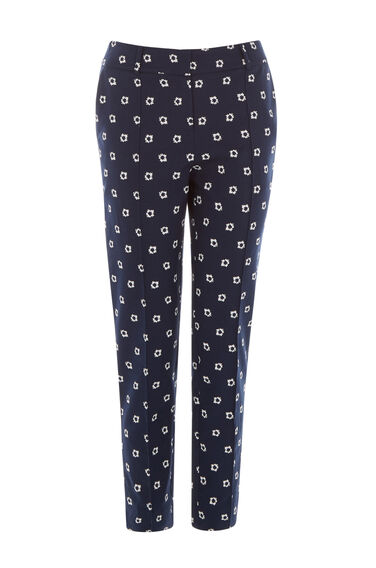 Warehouse, BANDANA PRINTED TROUSER Navy 0