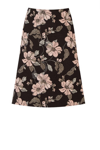 Warehouse, FLORAL JACQUARD SKIRT Multi 0