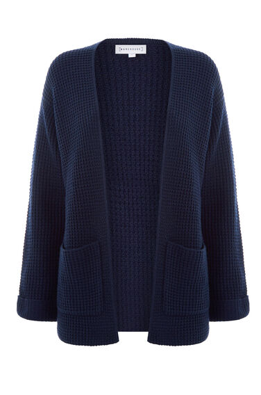 Warehouse, STITCH POCKET CARDI Navy 0