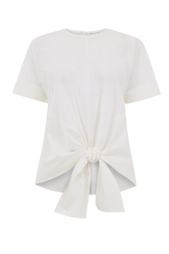 Warehouse, TIE FRONT COTTON TOP White 0