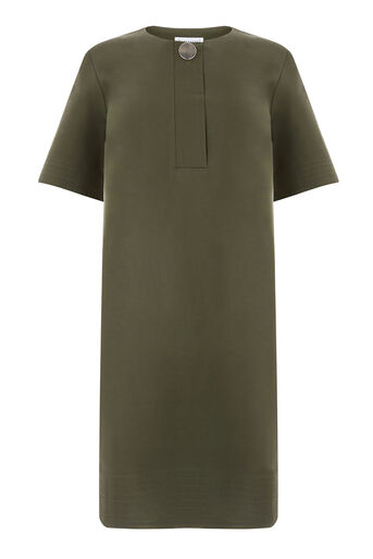 Warehouse, COMPACT COTTON DRESS Khaki 0