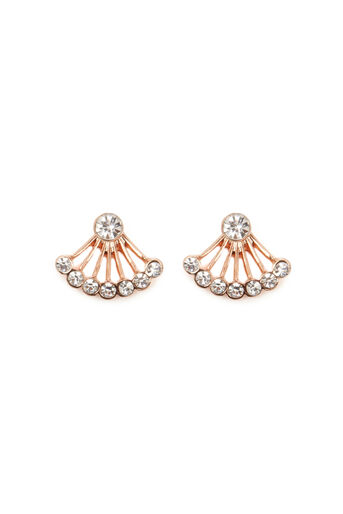 Warehouse, CRYSTAL EAR JACKET Rose Gold 0