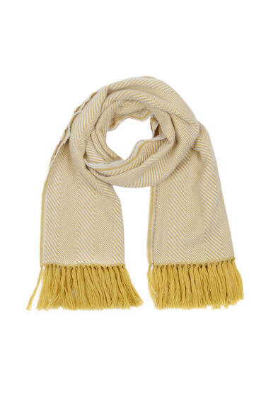 Warehouse, Herringbone Scarf Mustard 0