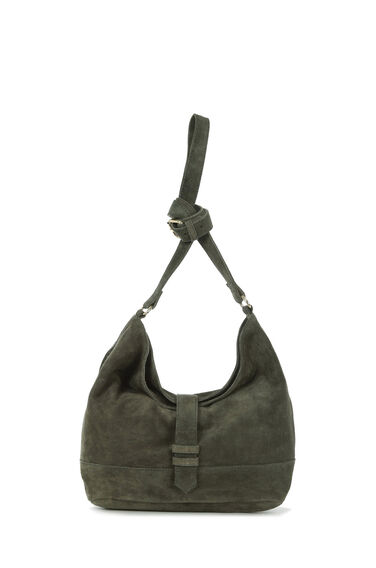 Warehouse, SUEDE SLOUCHY BAG Khaki 0