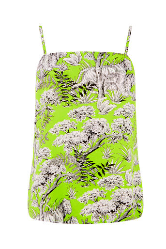Warehouse, TIGER PRINT CAMI Green Print 0