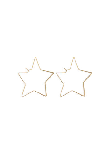 Warehouse, LARGE STAR SHAPE EARRING Gold Colour 0