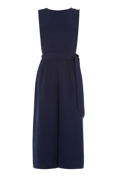 Warehouse, CROSS BACK JUMPSUIT Navy 0