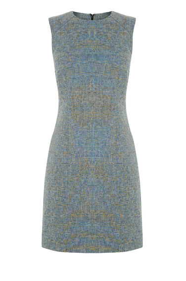Warehouse, TWEED DRESS Yellow 0