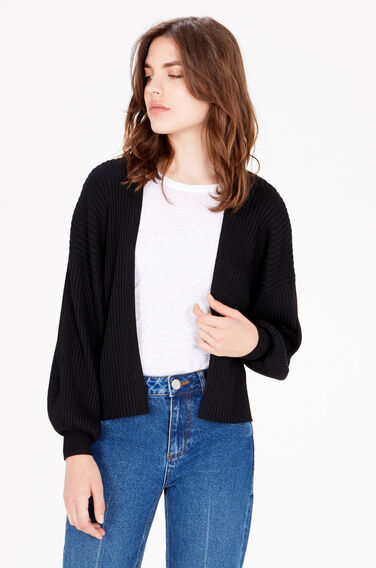 Warehouse, Balloon Sleeve Cardi Black 1