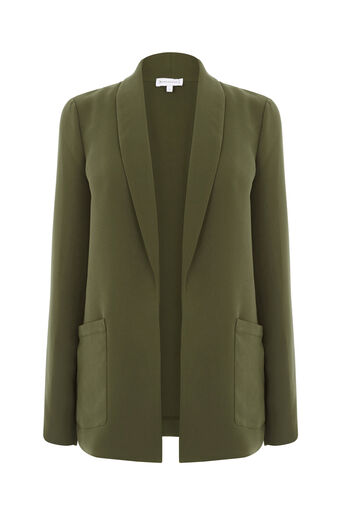 Warehouse, RELAXED FIT JACKET Khaki 0