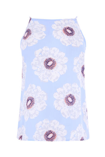 Warehouse, MELODY FLORAL CAMI Light Blue 0