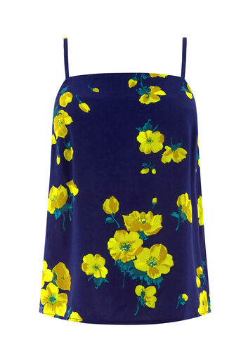 Warehouse, DELIA FLORAL PRINT CAMI Blue Pattern 0