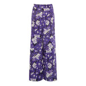 Warehouse, ASTER FLORAL TROUSERS Purple Pattern 0