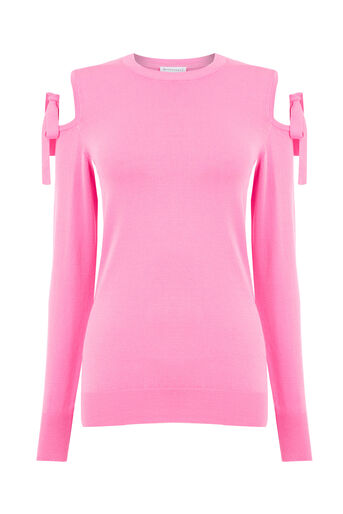 Warehouse, TIE SHOULDER JUMPER Bright Pink 0