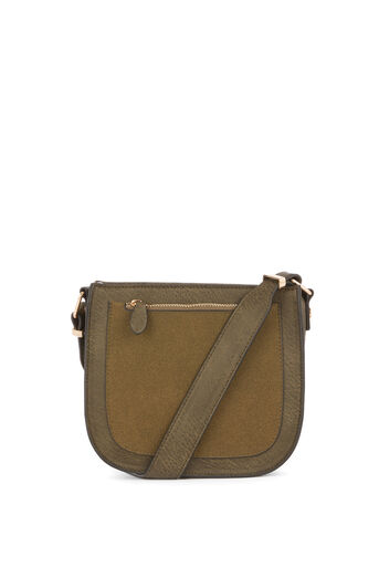 Warehouse, FRONT ZIP SADDLE CROSSBODY Khaki 0