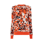 Warehouse, ANIMAL STAMP JACQUARD JUMPER Red Pattern 0