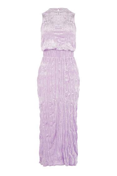 Warehouse, VELVET CRINKLE DRESS Dark Purple 0