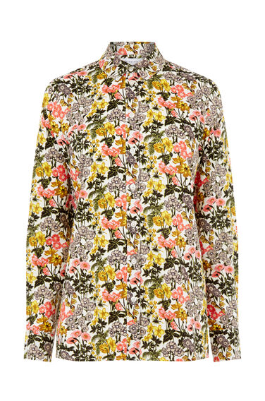 Warehouse, GARDEN POSY CASUAL SHIRT Neutral  Print 0