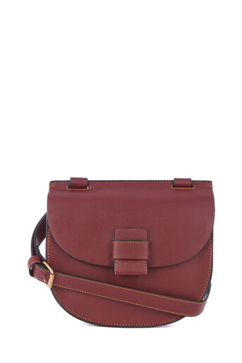 Warehouse, STITCH TAB SADDLE BAG Berry 0