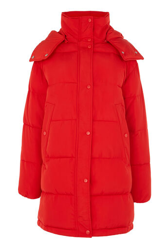 Warehouse, Padded Bubble Coat Bright Red 0