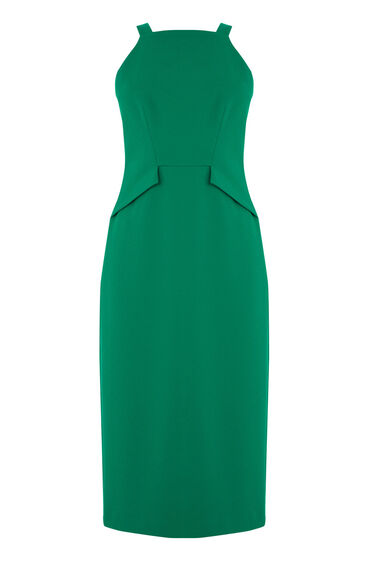 Warehouse, PINAFORE DRESS Bright Green 0