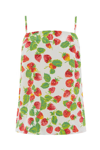 Warehouse, STRAWBERRY PRINT CAMI Neutral  Print 0