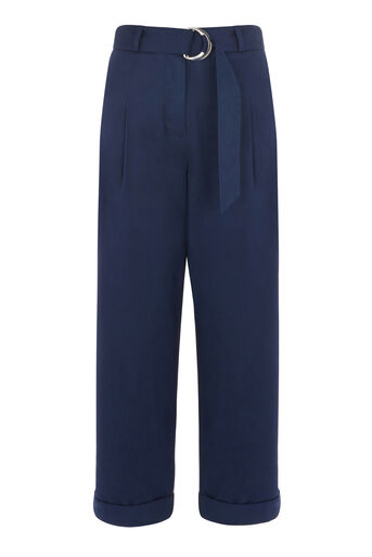 Warehouse, PLEATED CASUAL TROUSERS Navy 0