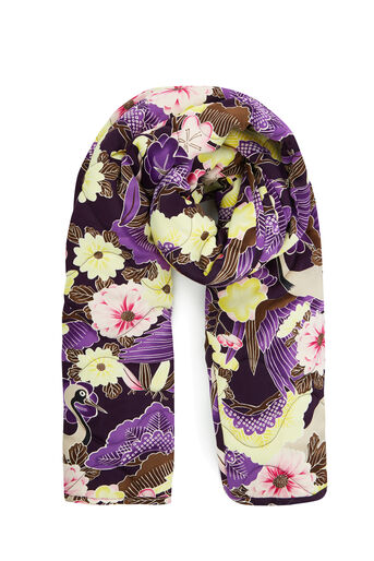 Warehouse, ORCHID PRINT QUILTED SCARF Multi 0