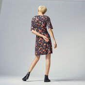 Warehouse, PAINTED FLORAL PONTE DRESS Multi 3