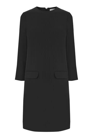 Warehouse, POCKET FRONT SHIFT DRESS Black 0