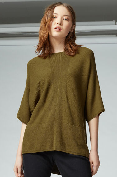 Warehouse, RIB PANEL BOXY TUNIC Mustard 1