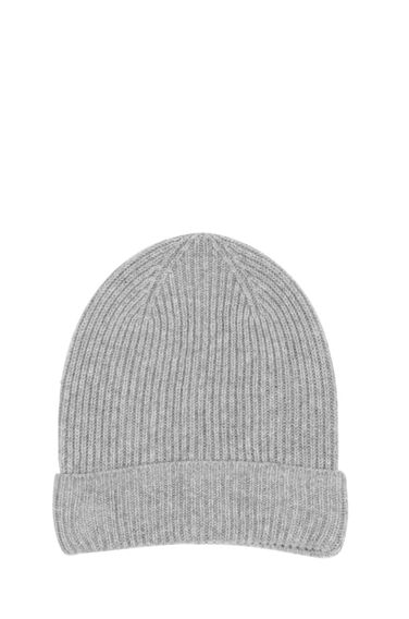 Warehouse, CASHMERE HAT Light Grey 0