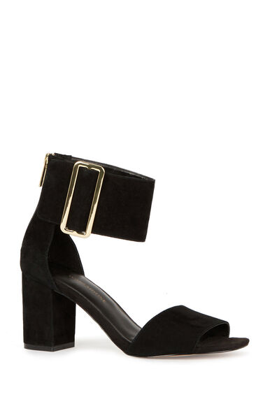 Warehouse, Wide Ankle Strap Sandals Black 0