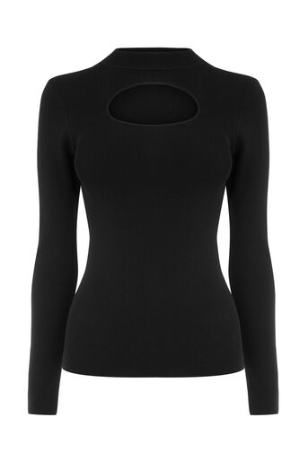 Warehouse, ROUND CUT OUT JUMPER Black 0