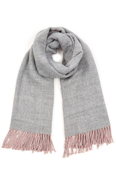 Warehouse, TWO TONE REVERSIBLE SCARF Light Pink 0