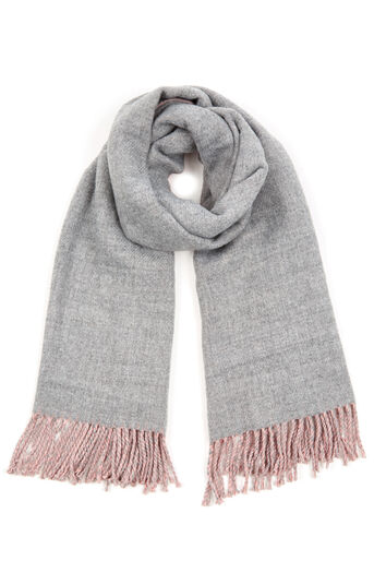 Warehouse, REVERSIBLE SCARF Light Grey 0