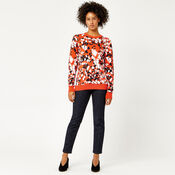 Warehouse, ANIMAL STAMP JACQUARD JUMPER Red Pattern 2