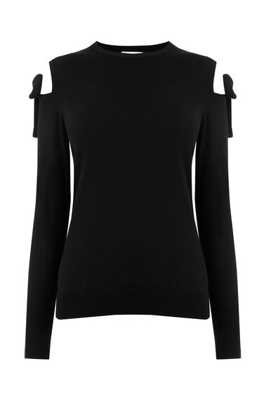 Warehouse, TIE SHOULDER JUMPER Black 0