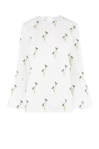 Warehouse, EMBROIDERED COTTON TOP White 0