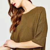 Warehouse, RIB PANEL KNITTED TOP Mustard 4