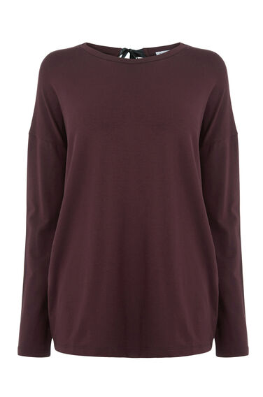 Warehouse, TIE BACK TOP Berry 0