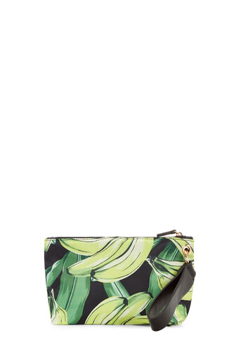 Warehouse, BANANA PRINT MAKE UP BAG Yellow 0