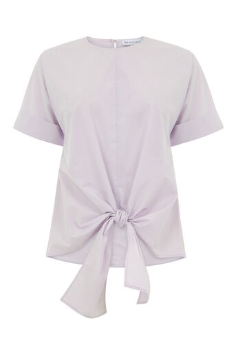 Warehouse, TIE FRONT COTTON TOP Lilac 0