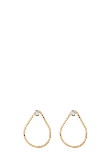 Warehouse, Gold Plated Teardrop Earrings Gold Colour 0